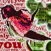 I Love You Only Abstract Poster