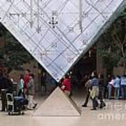 I M Pei Pyramid Inside The Louvre Entrance Poster