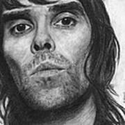Ian Brown Pencil Drawing Poster