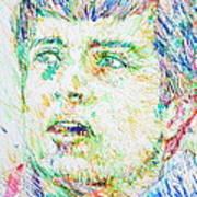 Ian Curtis Portrait Poster