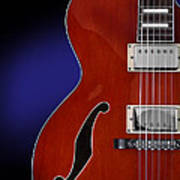 Ibanez Af75 Hollowbody Electric Guitar Front View Poster