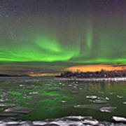 Ice And Auroras Poster by Frank Olsen