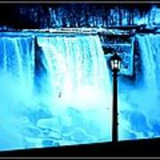 Ice Blue Falls Poster
