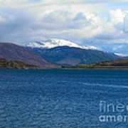 Ice Capped Mountains At Ullapool Poster