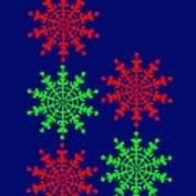 Ice Crystals seen in an Electron Microscope remind you to enjoy a Merry Christmas Poster