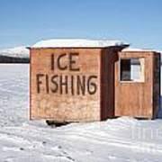 Ice Fishing Hut Poster