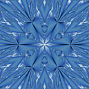 Ice Flower Fractal Poster