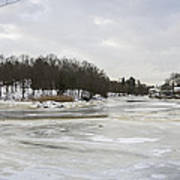 Ice On The Ipswich River Poster