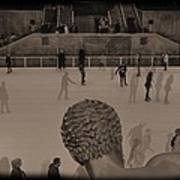Ice Skating At Rockefeller Center In The Early Days Poster