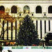 Ice Skating During The Holiday Season Poster by Nishanth Gopinathan