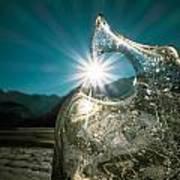 Ice With Sunburst Poster