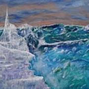 Iceberg Awaits The Titanic Poster