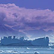 Iceberg Shipwreck Poster by DerekTXFactor Creative
