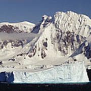 Icebergs Northern Tip Of The Antarctic Poster