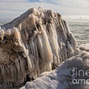 Iceburg In The Kewaunee Harbor Poster