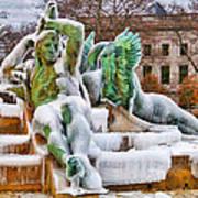 Iced Swann Fountain Poster