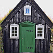 Icelandic Old House Poster