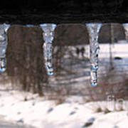 Icicles On The Bridge Poster
