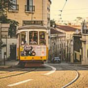 Iconic Lisbon Streetcar No. 28 Iv Poster