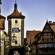 Iconic Rothenburg Poster