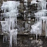Icy Ledges Poster by Margaret McDermott