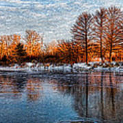 Icy Reflections At Sunrise - Lake Ontario Impressions Poster