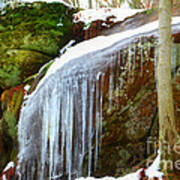 Icy Waterfall  Poster