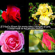 If I Had A Flower Collage Poster