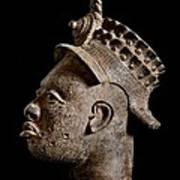 Ife Bronze Royal Head Portrait Poster