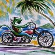 Iguana Rider Poster