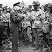 Ike With D-day Paratroopers Poster