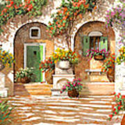 Il Cortile Poster by Guido Borelli