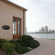 Il Fornaio Italian Restaurant In Coronado California Overlooking The San Diego Skyline 5d24364 Poster