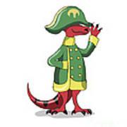 Illustration Of A Tyrannosaur Rex Poster