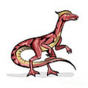 Illustration Of Velociraptor Poster