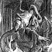 Illustration To The Poem Jabberwocky  Poster