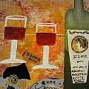 Ilona Wine Poster by Dori Meyers
