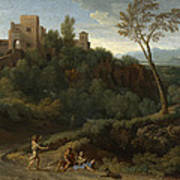 Imaginary Landscape With Buildings In Tivoli Poster