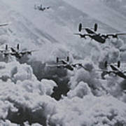 Imagine The Brave Men In These Bombers On A World War II Mission Poster