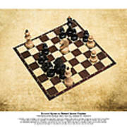 Immortal Chess - Byrne Vs Fischer 1956 - Moves Poster