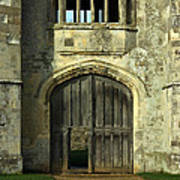 Imposing Front Door Of Titchfield Abbey Poster