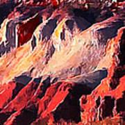 Impression Of Capitol Reef Utah At Sunset Poster