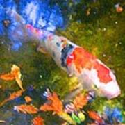 Impressionism  Koi 2 Poster