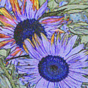 Impressionism Sunflowers Poster