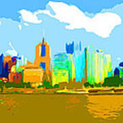 Impressionist Pittsburgh From The North Side Poster