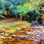 Impressionist Rocky Creek Poster