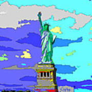 Impressionist Statue Of Liberty Poster