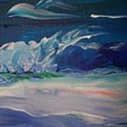 Impressionistic Abstract Wave Poster