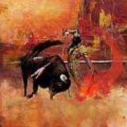 Impressionistic Bullfighting Poster by Corporate Art Task Force