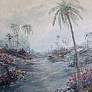 Impressionistic Palms Poster